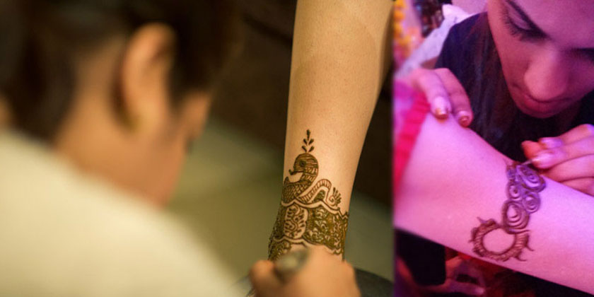 back of bridal mehndi hands