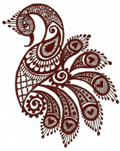 Mendhi Body Logo Design